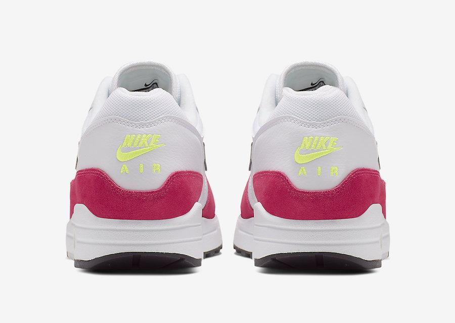 Nike Air Max 1 White Black Volt Rush Pink AH8145-111 Release Date