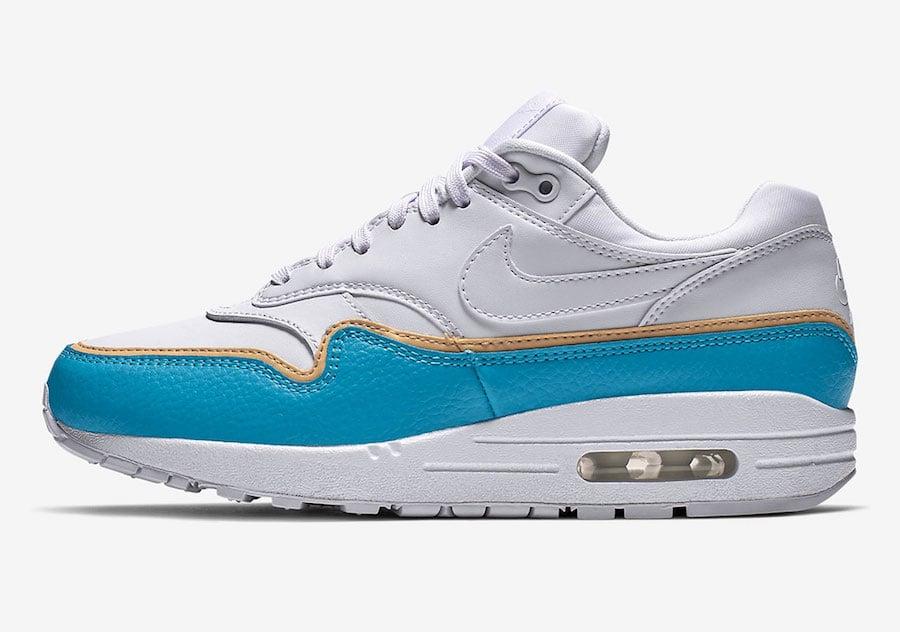Nike Air Max 1 White Blue 881101-103 Release Date