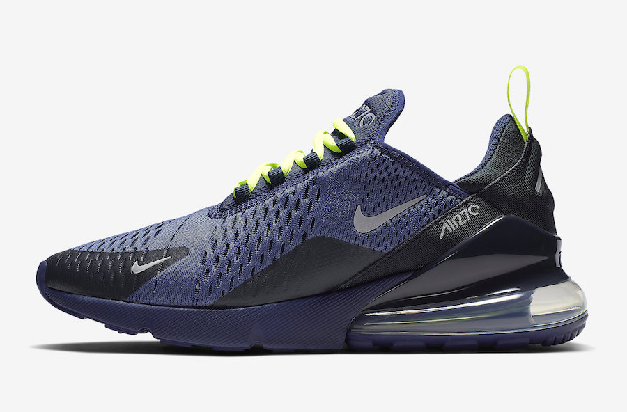 Nike Air Max 270 Blue Void Volt CD7337-400 Release Date