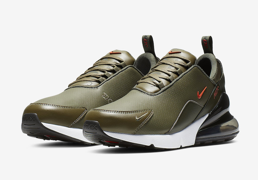 Nike Air Max 270 Premium Leather Olive BQ6171-200 Release Date