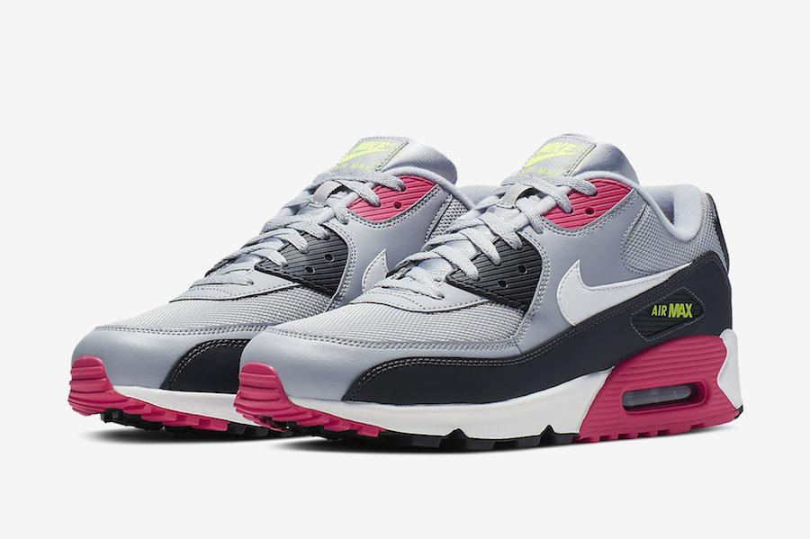 Nike Air Max 90 Grey Pink Volt AJ1285-020 Release Date  d9a5e13a9