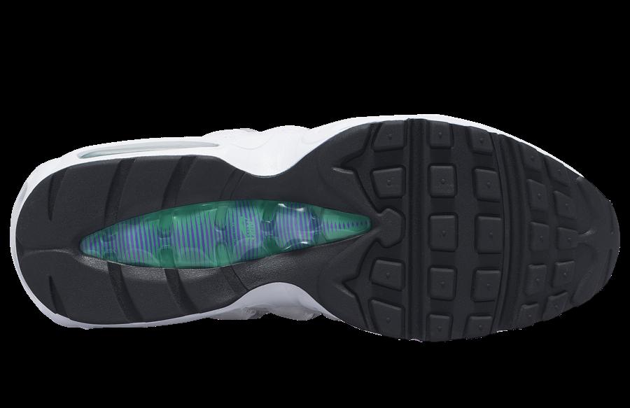 Nike Air Max 95 LV8 White Court Purple Emerald Green AO2450-101 Release Date