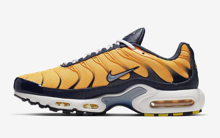 air max plus navy blue orange