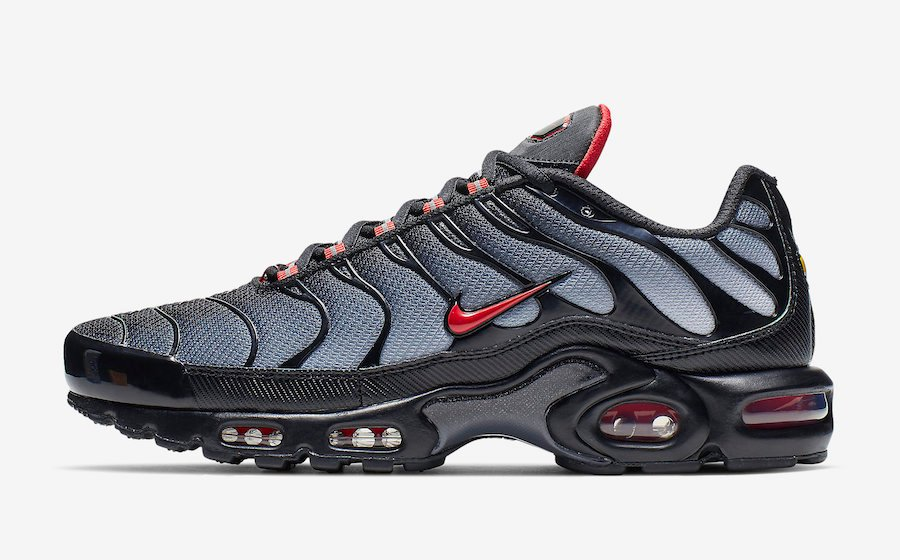 2020 Nike Air Max Plus Black Gradient Red CI2299 001 – With