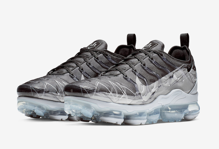 new product b0645 9354f Nike Air VaporMax Plus Black Wolf Grey BV7827-001 Release ...