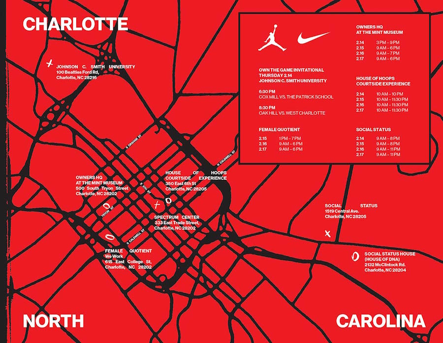 Nike Jordan Brand 2019 NBA All-Star Weekend Charlotte Events