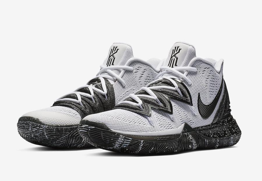 070285396b8 Nike Kyrie 5 Oreo White Black AO2918-100 Release Date | SneakerFiles
