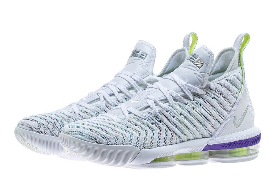 a62bf6526e1 Nike LeBron 16 Buzz Lightyear AO2588-102 White Multi-Color Hyper ...