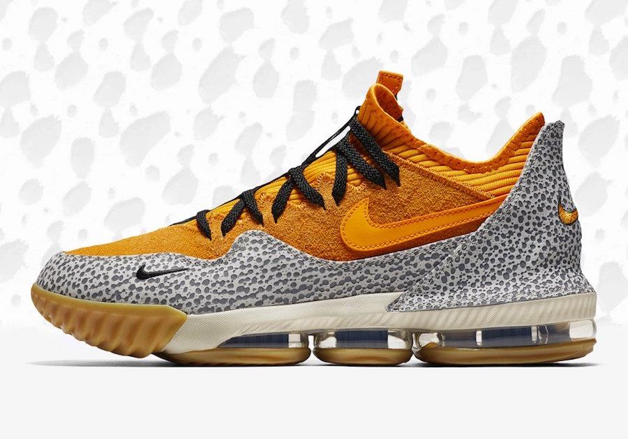 Nike LeBron 16 Low Safari atmos Release Date