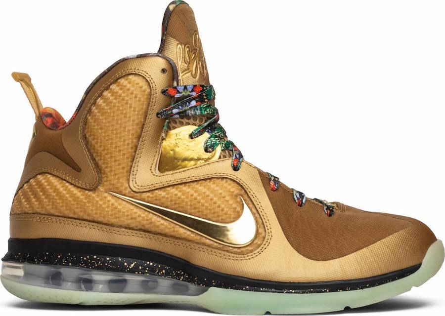 new styles 15cd6 91e34 Nike LeBron 9 Watch The Throne Sample Metallic Gold