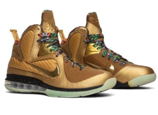 Nike LeBron 9 Watch The Throne Sample Metallic Gold