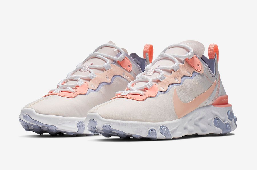 5abe25d264ec Nike React Element 55 Pale Pink Washed Coral BQ2728-601 Release Date ...
