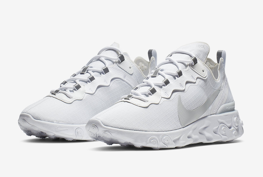 Nike React Element 55 White Pure Platinum BQ6167-101 Release Date