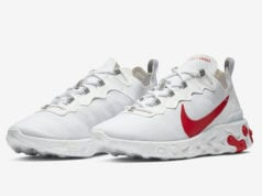 Nike React Element 55 White University Red BQ6167-102 Release Date