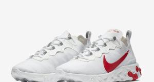 Nike React Element 55 White University Red BQ6167-102 Release Date