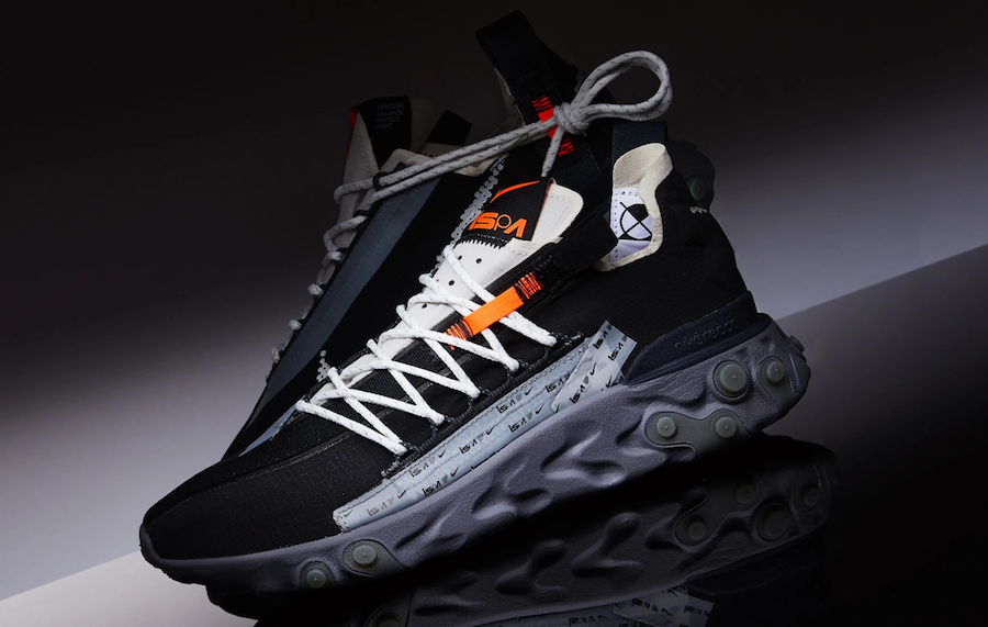Nike React WR ISPA Black Metallic Silver AR8555-001 Release Date