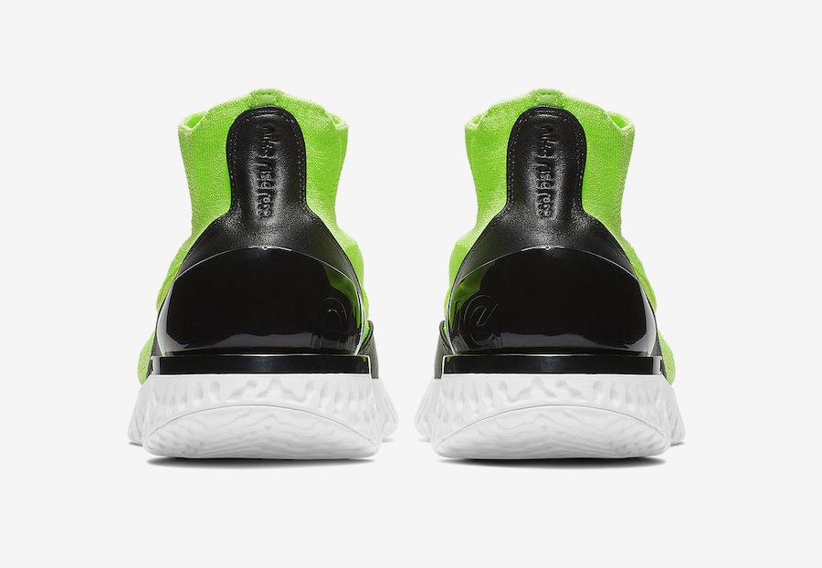 Nike Rise React Flyknit Lime Blast AV5554-330 Release Date