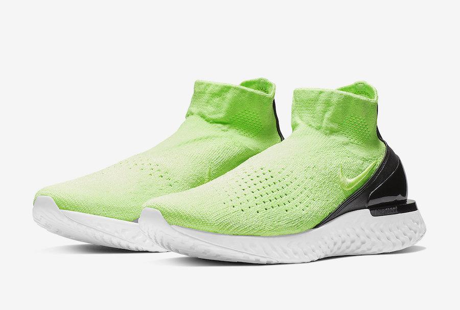 b782b1d95bf Nike Rise React Flyknit Lime Blast AV5554-330 Release Date ...