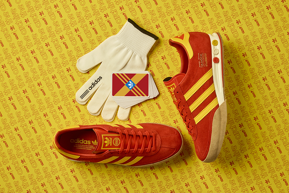 size? adidas Kegler Super Red Yellow Release Date
