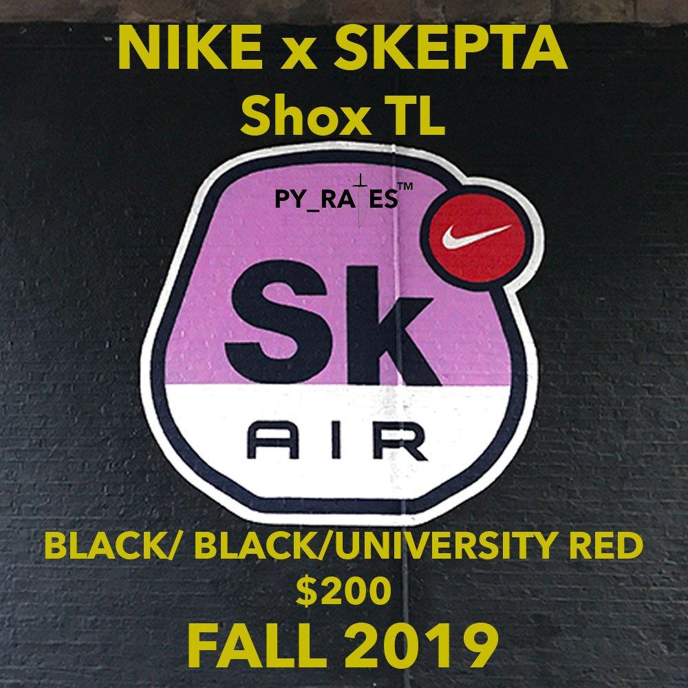 Skepta Nike Shox TL Black University Red