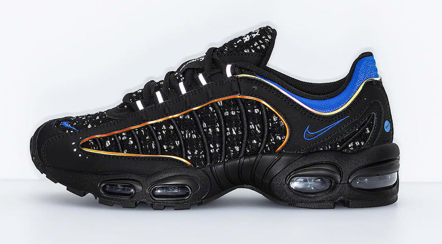 Supreme Nike Air Max Tailwind 4 Black Blue AT3854-001 Release Date