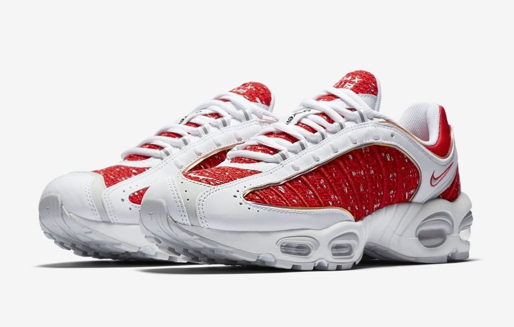 Supreme Nike Air Max Tailwind 4 IV White Red Release Date