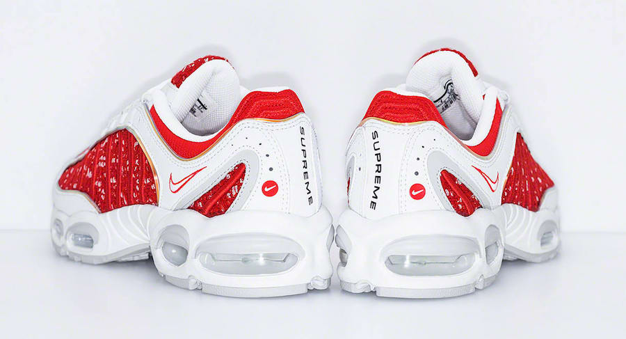 Supreme Nike Air Max Tailwind 4 Red White AT3854-100 Release Date