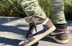 Travis Scott Air Jordan 1 Cactus Jack 2019 On Feet