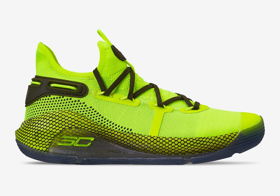 Under Armour Curry 6 Hi Vis Yellow Guardian Green 3020612-302 Release Date