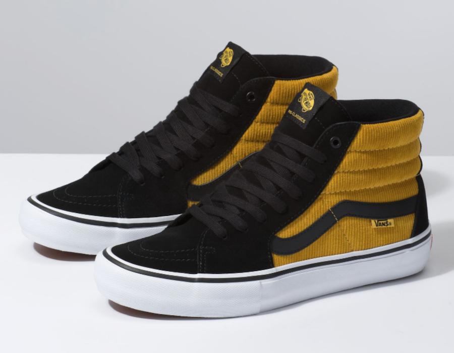 Vans SK8-Hi Yellow Corduroy