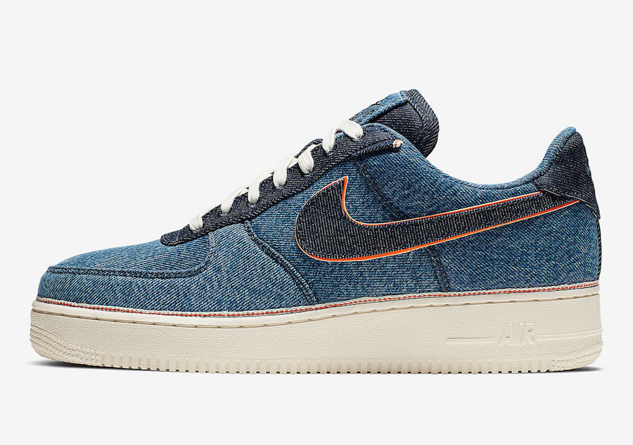 3x1 Nike Air Force 1 Denim 905345-403 Release Date