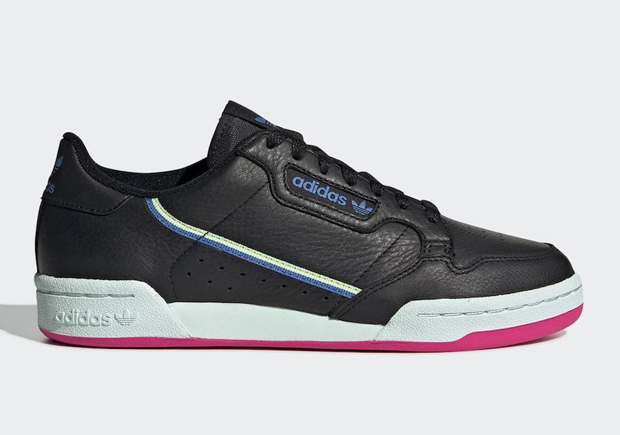 adidas Continental 80 Womens Black Mint Blue G27723