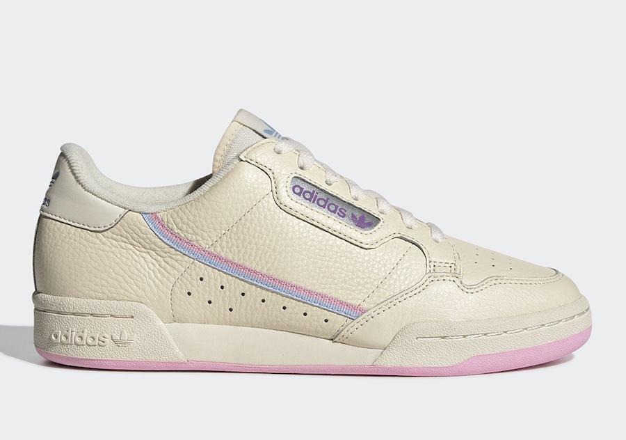 adidas Continental 80 Womens Tan Pink G27726
