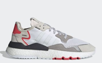 4adde3199 adidas Nite Jogger in Light Grey and Red