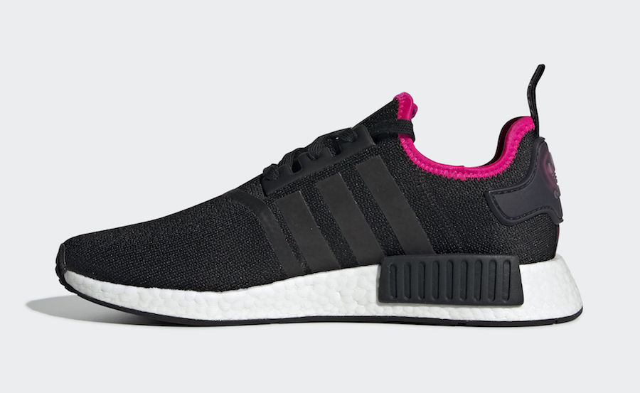 74425705c adidas NMD R1 Core Black Shock Pink DB3586 Release Date