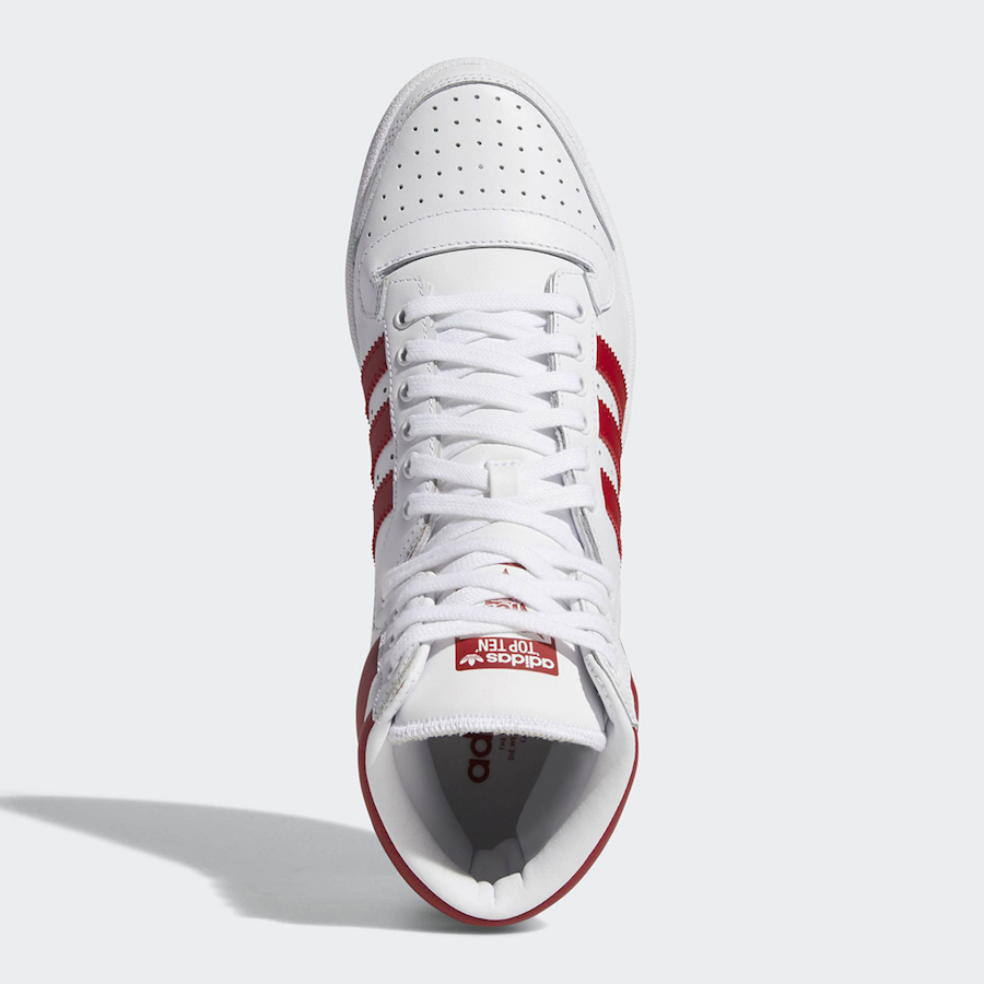 adidas Top Ten Hi White Red EF2359 Release Date