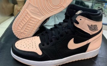 Air Jordan 1 High OG Crimson Tint Black 555088-081 Release Date