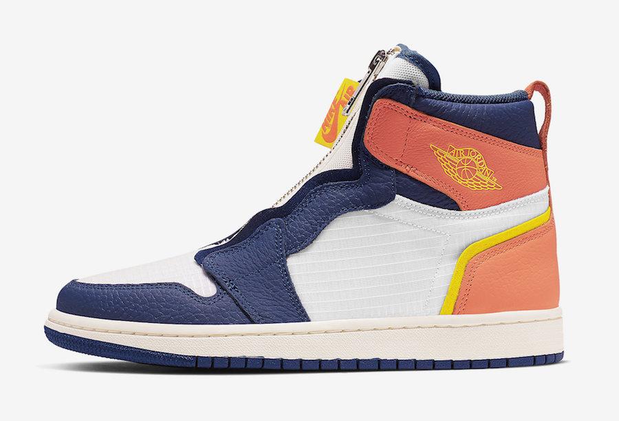 Air Jordan 1 High Zip Bright Citron True Orange AQ3742-100 Release Date