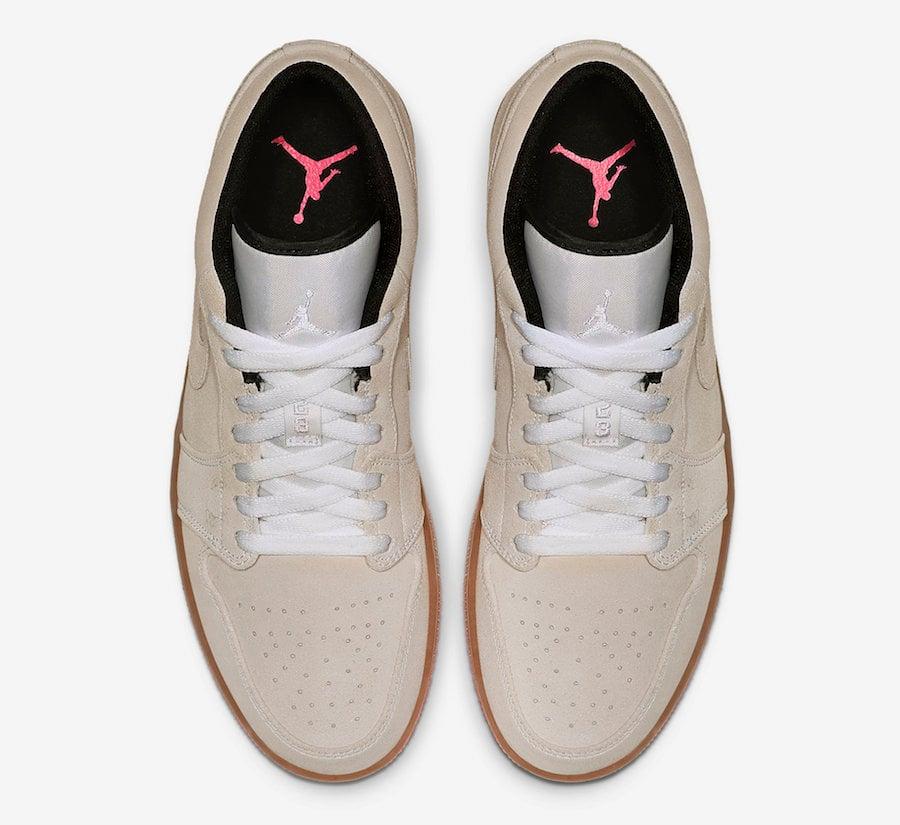 46567d5cddc Air Jordan 1 Low Beige Pink 553558-119 Release Date | SneakerFiles
