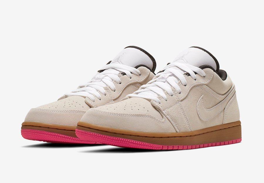 uk availability 8d793 d8119 Air Jordan 1 Low Beige Pink 553558-119 Release Date ...