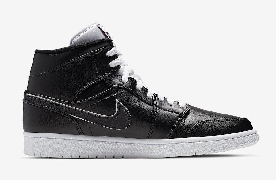 Air Jordan 1 Mid Black White 852542-016 Release Date