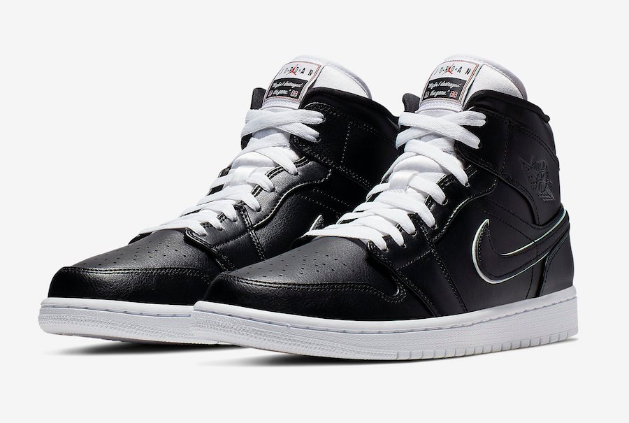 new styles 70a65 5bc60 Air Jordan 1 Mid Black White 852542-016 Release Date