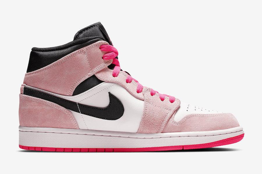 Air Jordan 1 Mid Crimson Tint Hyper Pink 852542-801 Release Date