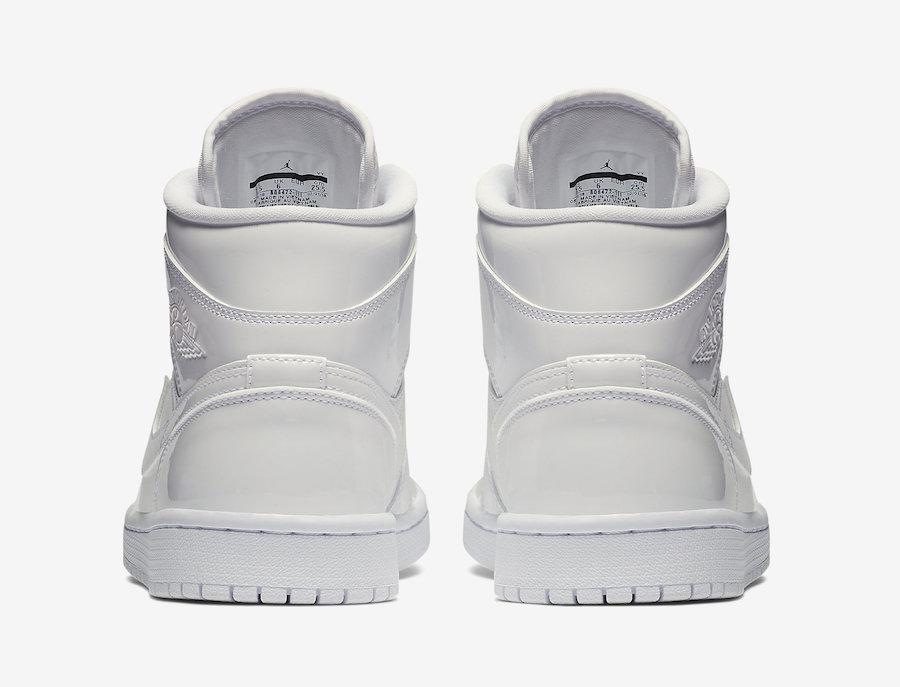 Air Jordan 1 Mid White Patent BQ6472-111 Release Date