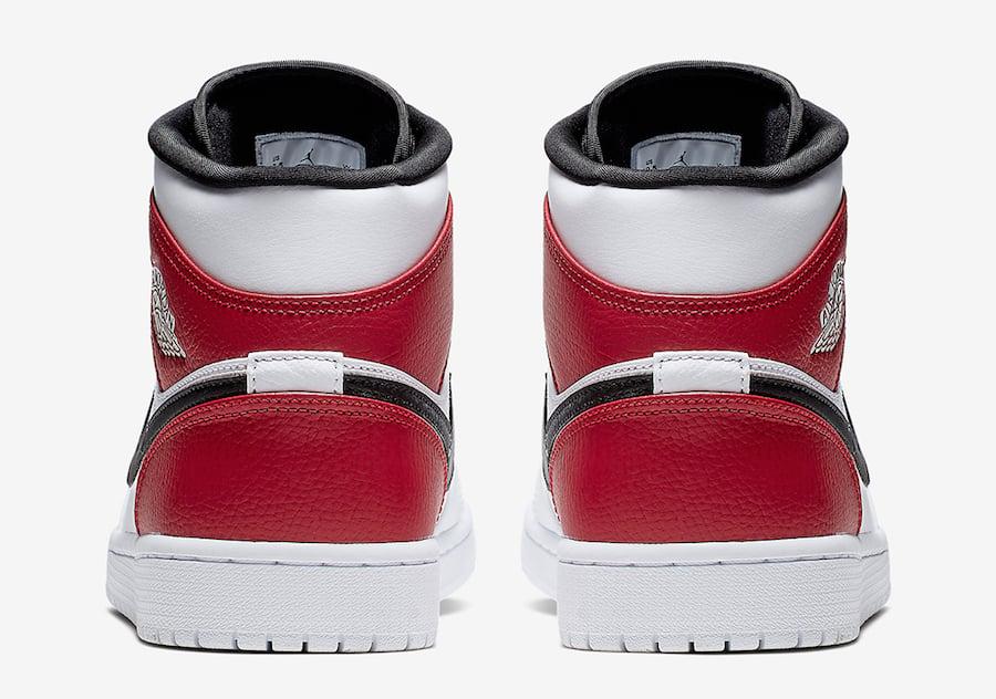Air Jordan 1 Mid White Red Black 554724-116 Release Date