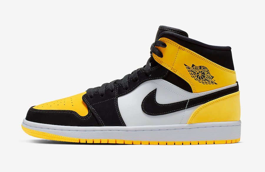 Air Jordan 1 Mid Yellow Toe 852542-071 Release Date Info