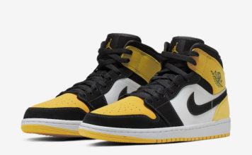 Air Jordan 1 Mid Yellow Toe 852542-071 Release Date Info