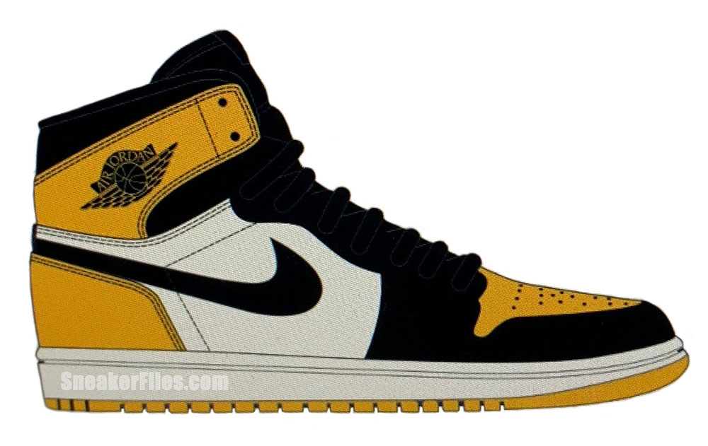 Air Jordan 1 Mid Yellow Toe Black 852542-071 Release Date