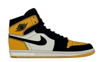 Air Jordan 1 Mid Yellow Toe Black White 852542-071 Release Date