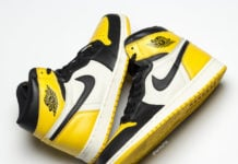 Air Jordan 1 Yellow Toe Black White AR1020-700 Release Date